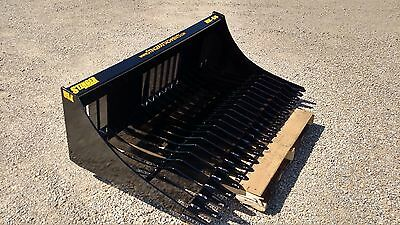 New 80 Rock Skeleton Bucket Grade 50 Steel Skid Steer Tractor Bobcat Deere