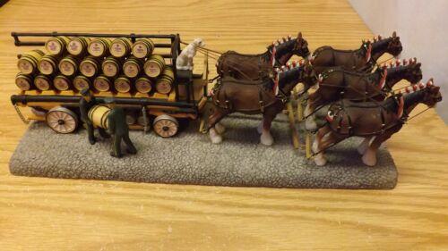 "Anheuser-Busch Budweiser Clydesdale Five Horse Hitch 13"" CLYD10  1998"