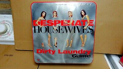 DESPERATE HOUSEWIVES DIRTY LAUNDRY BOARD GAME 2005 CARDINAL NEW IN TIN (Dirty Board)