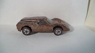 Vintage Hot Wheels Red Lines USA 1968 Ford J-Car [Brown]