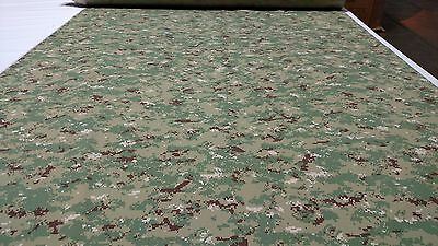 "Green/Brown Digital Military Camo Ny/Co Ripstop Camouflage Fabric 60""W Apparel"