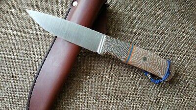 """G.Dedyukhin fixed hunting custom knife """"Raden"""" M390 Handmade in Bark River Style"""