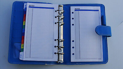 Compactportable .78 Rings Blue White Sim. Leather Day-runner Plannerbinder
