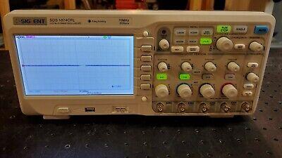 Siglent Sds1104cfl 7 Color Lcd Digital Sotrage Oscilloscope 70mhz 2gsas 4 Ch