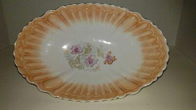 Vintage German Made Oblong Floral Bowl