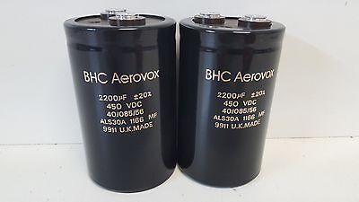 Lot Of 2 Guaranteed Good Used Bhc Aerovox 450vdc Capasitors Als30a