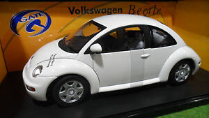 volkswagen new beetle blanc au 1 18 gate 01035 voiture miniature coccinelle ebay. Black Bedroom Furniture Sets. Home Design Ideas
