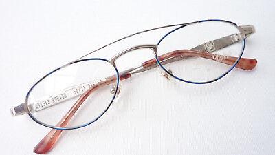 Kleidung & Accessoires Sonnenbrillen & Zubehör Stabil Grösse M Brillen-fassung Brille Aus Metall In Braun Mit Kleinen Gläsern