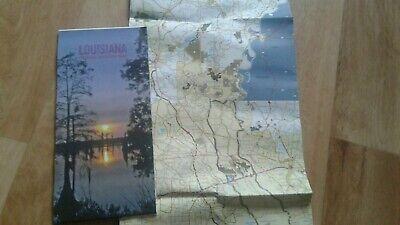 Landkarte, Reisekarte, Map USA Bundesstaat Louisiana Autokarte (Usa Reise-karte)
