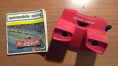Gaf View Master Model J With Automobile Racing 3 Reel Set D112-E 1970s