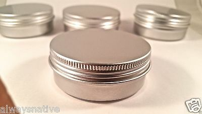 Aluminum Tins (empty Aluminium Balm cosmetic Tin pot jar containers 2oz (15 CT) SCREW)
