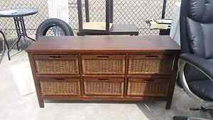 Cupboard with 6 wicker draws Rutherford Maitland Area Preview