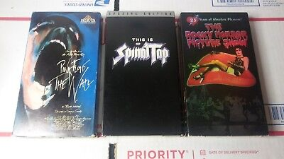 Used, LOT OF 3 VHS PINK FLOYD THE WALL SPINAL TAP SP. ED. ROCKY HORROR PICTURE SHOW for sale  Hughesville