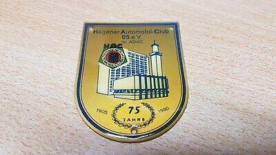 Sign,Emblem Clublogo Hagener Automobil Club Oldtimer-Plakette
