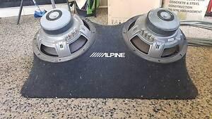 "Alpine 12"" Dual Subs - Custom Box Palmerston Area Preview"