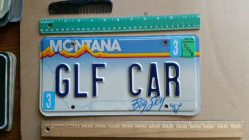 License Plate, Montana, Gr8 Personalized Vanity: GLF CAR, Golf Car (Cart)