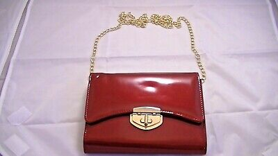 Red Patent Leather Clutch (Red Patent Leather Crossbody/Clutch Purse )