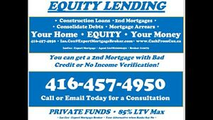 EQUITY LEND! 2nd Mortgages and Construction Financing