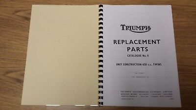 TRIUMPH TR6 T120 BONNEVILLE UK SPEC PARTS BOOK MANUAL No.8 1970 - TP39 99-0901