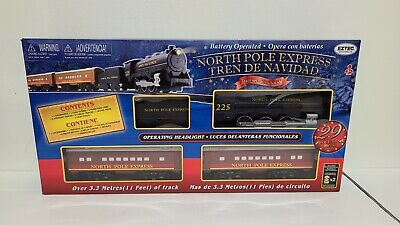 **NEW** EzTec North Pole Express Christmas Train Set Battery Operated Holiday