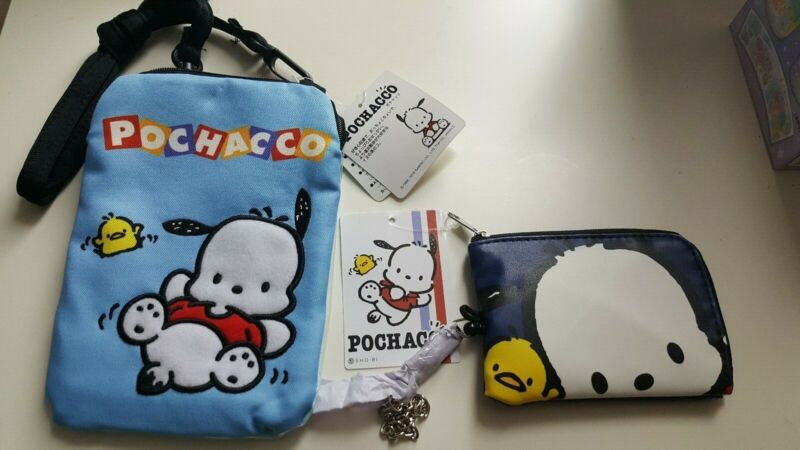 Sanrio Pochacco pouch and pass case Japan
