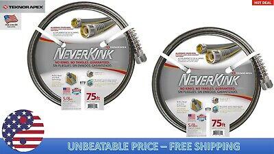 Pack 2 Teknor Apex Neverkink 5/8-in X 75-ft Premium-Duty Kink Free Vinyl Hose
