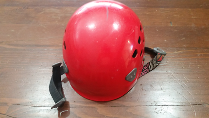 Petzl safety helmet good for rock climbing and boarding