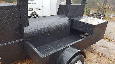 Sink Setup Bbq Smoker 36 Grill Trailer Catering Food Cart Truck Business Vending