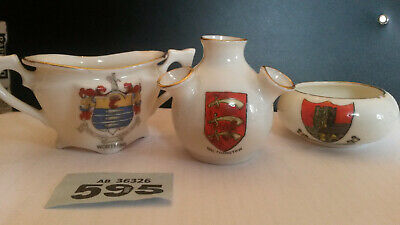 3 Piece Crested China