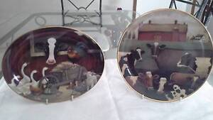 Two farmyard Franklin Mint plates Metford Maitland Area Preview