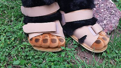 Gorilla Monkey Feet in Sandals Costume Shoes Slippers 10