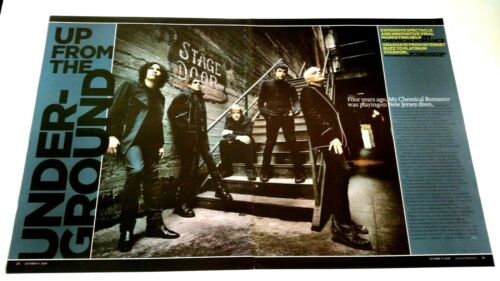 """MY CHEMICAL ROMANCE """"UP FROM THE UNDERGROUND""""RARE ORIGINAL PRINT PROMO POSTER AD"""