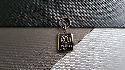 Porte clés Double Face Volkswagen Motor Sport  Golf Polo Passat beetle ETC NEUF
