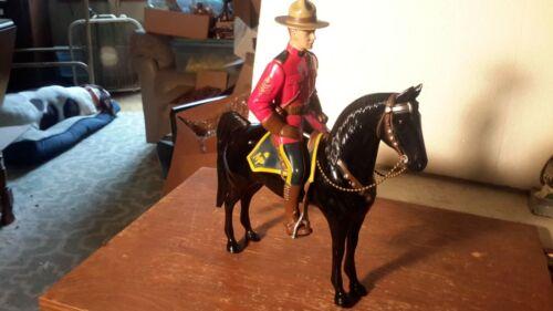 "Hartland ""MOUNTIE"" Lance O""Rourke/ BLACK HORSE /pistol/hat/flag Model"