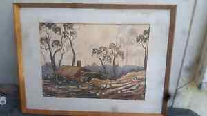 WATERCOLOUR FRAMED GENTLES MILL Redcliffe Redcliffe Area Preview