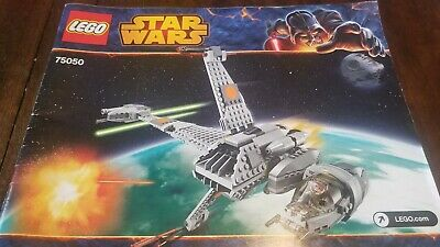 LEGO Star Wars B-Wing Fighter - 75050 - Instruction - Manual Only