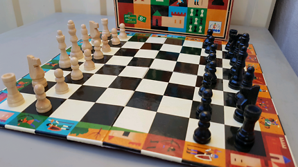 Kids chess board and magic box $5 each