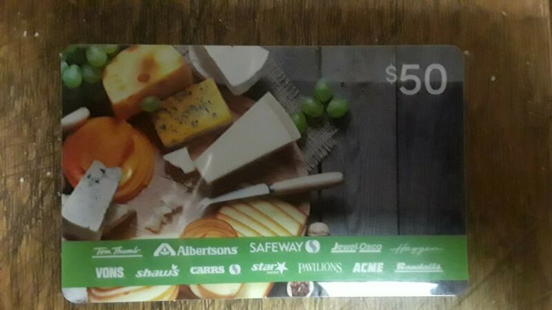 $50 Grocery Gift Card; Safeway,