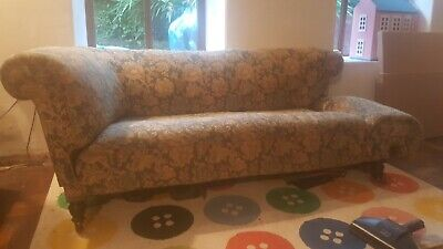 Antique Victorian Two-Seater Drop-Arm Sofa great refurbishment project