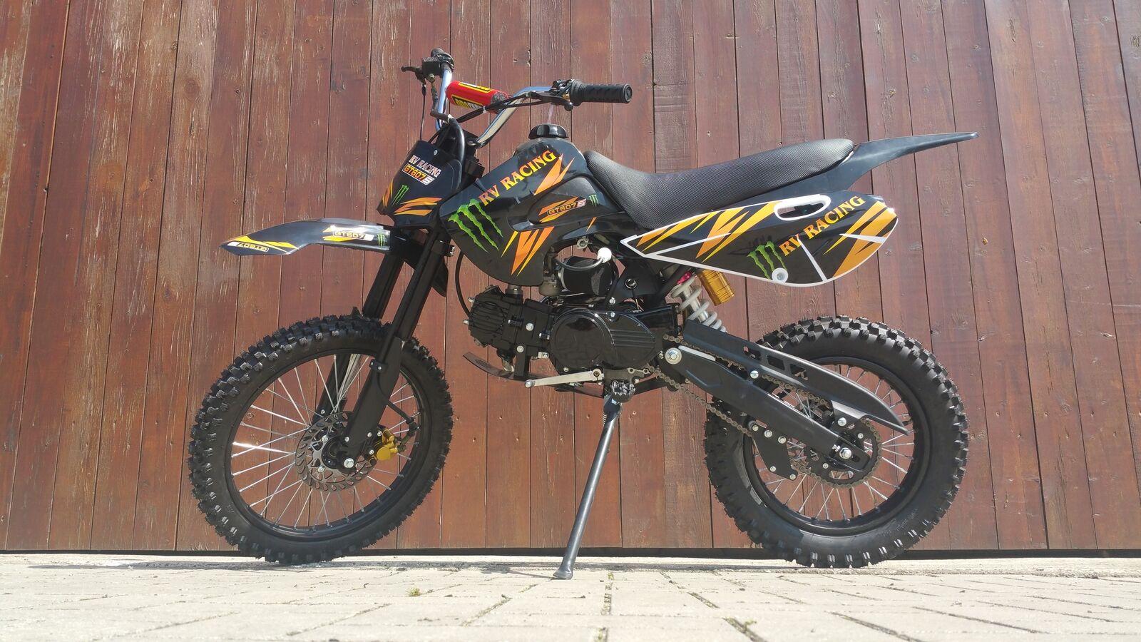 125ccm Dirtbike Pitbike 4 Takt 4 Gang 17/14 Zoll Schwarz Enduro Cross Motor