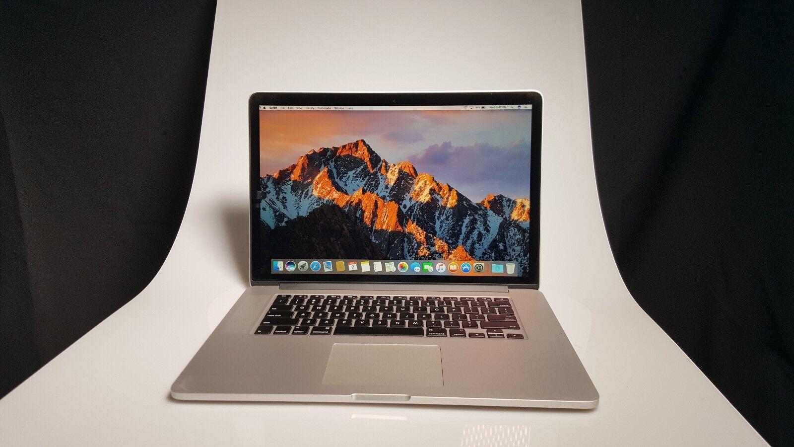 "Apple Macbook Pro Retina Laptop 15.4"" 2.7 - 3.7 Ghz i7 ~ 16GB RAM~ 512 SSD"