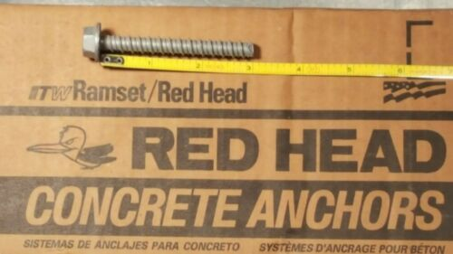 "Red Head ITW 3/8"" X 3"" Tapcon Ramset Large Dia Concrete Anchor 30PK"