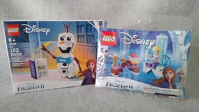 LEGO Disney Frozen 2Olaf AND Elsa's Winter Throne 41169 & 30553. New & Sealed!