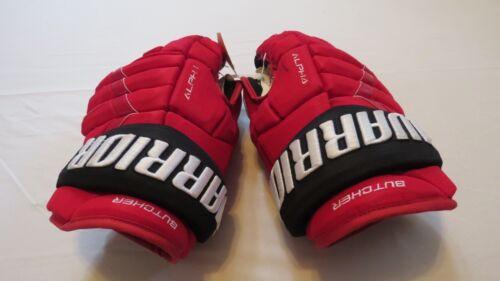 "Will Butcher Used Warrior Alpha Pro Stock NJ Devils 14"" Hockey Gloves! MeiGray"