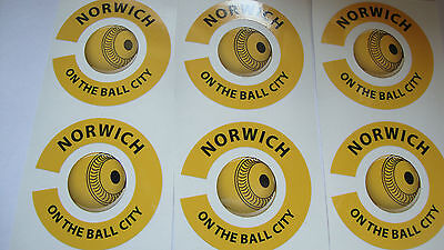 NEW  NORWICH  12 CROWN GREEN BOWLS STICKERS LAWN BOWLS FLAT 6FINGER + 6 THUMB