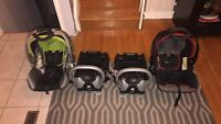 Two Baby Trend car seats