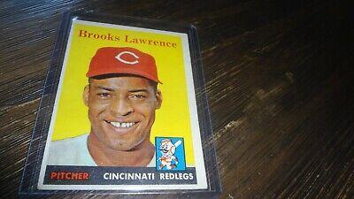 1958 TOPPS # 374 BROOKS LAWRENCE    BASEBALL CARD