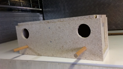 Double budgie nesting boxes