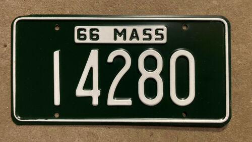 Massachusetts 1966 license plate 14280 NOS