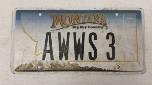 EXPIRED MONTANA Big Sky County License Plate AWWS 3